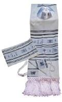 """Tallis Set Moadim Jewish Festivals Size 18 Black Shades 18"""" x 72"""""""