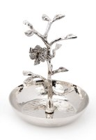 Ring Catcher Holder Stainless Steel Jeweled Flower Design