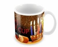Mug Chanukah Design with Custom Name 15oz