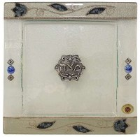 Matzah Tray Square - Blue Tulip
