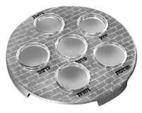 """Metal Seder Plate Kaarah with Bowls Silver 12"""""""