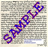 Premium Mezuzah Parchment Scroll Sefardi 12cm