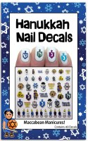 Hanukkah Nail Decals 49 Pieces