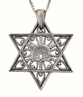 Silver Chai In Star Of David Necklace #NDN2026-300