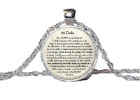 Necklace with Psalm 23 Pendant in English Silver