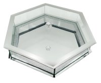 Octagon Glass Matzah Holder Silver 15""