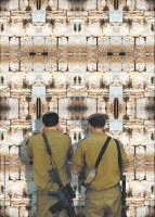 Laminated Sukkah Poster Israeli Soldiers by the Kosel