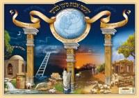Laminated Sukkah Poster Maase Avos Siman Labanim