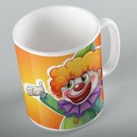 Mishloach Manos Mug Clown Design 11oz