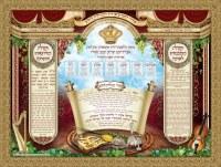 "Large Material Sukkah Poster Royal Design Seder Ushpizin and Netillas Lulav 60"" x 84"""