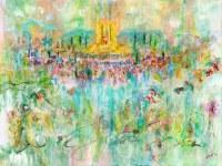 """Large Vinyl Sukkah Poster Beis Hamikdash Motif 30"""" x 40"""""""