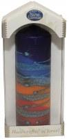"Safed Pillar Candle Rainbow Blue Medium 2"" x 6"""