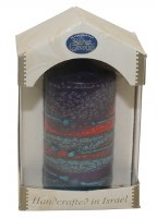 "Safed Pillar Candle Sunrise Purple Large 3"" x 6"""
