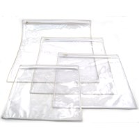 "Plastic Protective Cover for Tallis Bag with Zipper Large 15.5"" x 15.5"" Single Piece"