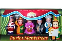 Mitzvah Kinder Purim Mentchees 6 Piece Playset