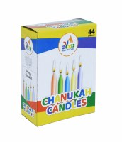 Standard Chanukah Candles Colorful 44 Count Box