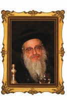 "Portrait on Wood The Sanz-Klausenberg Rebbe Shlita 8"" x 10"""