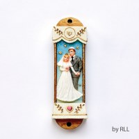 Polyresin Mezuzah Wedding Design 7.5cm