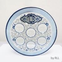 Round Glass Elegant Seder Plate