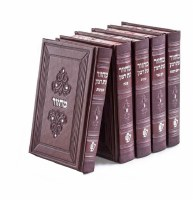 Machzorim Eis Ratzon 5 Volume Set Maroon Faux Leather Ashkenaz [Hardcover]