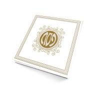 Haggadah Shel Pesach Hebrew and English Cream and Gold Color Ashkenaz [Paperback]