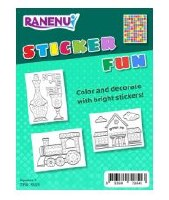 Sticker Craft Activity Kit Kiddush Cup Train and Shul Images