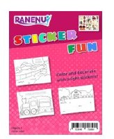 Sticker Craft Activity Kit River Train and Farm Images