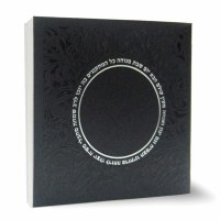 Zemiros Shabbos Square Booklet Black Ashkenaz