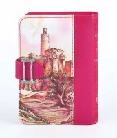 Jewel Siddur and Tehillim with Clasp Migdal Dovid Pink Design Sefard