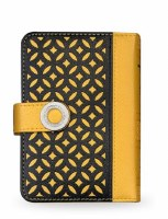 Siddur Eis Ratzon with Tehillim Faux Leather Lacey Mustard Yellow Design Ashkenaz