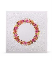 Birchas Hamazon Square Booklet - Flower Circle - Edut Mizrach