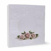 Zemiros Shabbos Square Booklet White - Roses - Ashkenaz