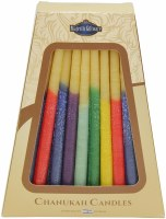 "Safed Handcrafted Pure Beeswax Candles Multi Color 6"" 45 Pack"