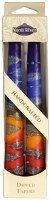 """Safed Taper Candles 2 Pack 10"""" - Rainbow Blue"""
