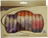 Safed Shabbat Candle 12 Pack Cream Mix