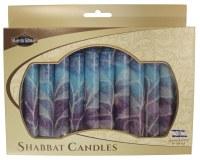 Safed Shabbat Candle 12 Pack - Fantasy Blue
