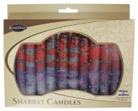 Safed Shabbat Candle 12 Pack - Sunrise Purple