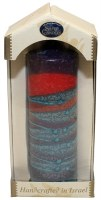 Safed Pillar Havdalah Candle Sunrise Purple Medium 6""