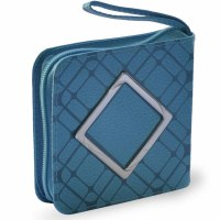 Mini Zipper Siddur with Diamond Buckle Turquoise Faux Leather Ashkenaz