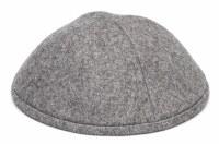 Yarmulka Wool Gray Size 3