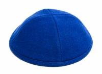 Yarmulka Wool Royal Blue Size 2