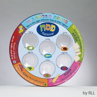 SEDER PLATE LAMINATE COLORFUL