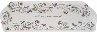 "Tray Melamine Swirls and Flowers Design 16"" x 6"""