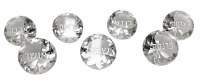 Crystal Diamond Shaped Napkin Weights with Blessings Set of 7