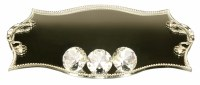 "Candlesticks Tray Mirror and Crystal Elegant Design 10"" x 14"""