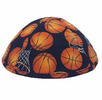 Star Kippah Basketball and Hoops Black Size 5