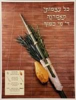 Arba Minim Four Species Laminated Sukkah Poster