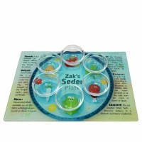 Seder Plate for Kids Tempered Glass Includes 6 Glass Bowls Customizable