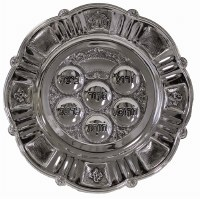 Seder Plate Nickel Plated Classic Design
