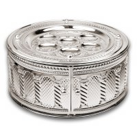 Silver Plated 3-Tiered Seder Plate Royal Palace Design